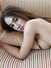 20yo Thai Ladyboy Gets Fucked By Strangers White Dick