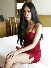 25 Year Old Busty Thai Ladyboy Sucks Off White Cock And Gets A Facial