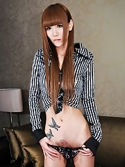 "Skinny Japanese ladyboy Miki has never been seen anywhere else. Her name means, ""attractive princess"" in its Kanji characters"