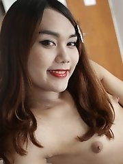 22 year old partygirl Thai ladyboy gets naked and fucked hard